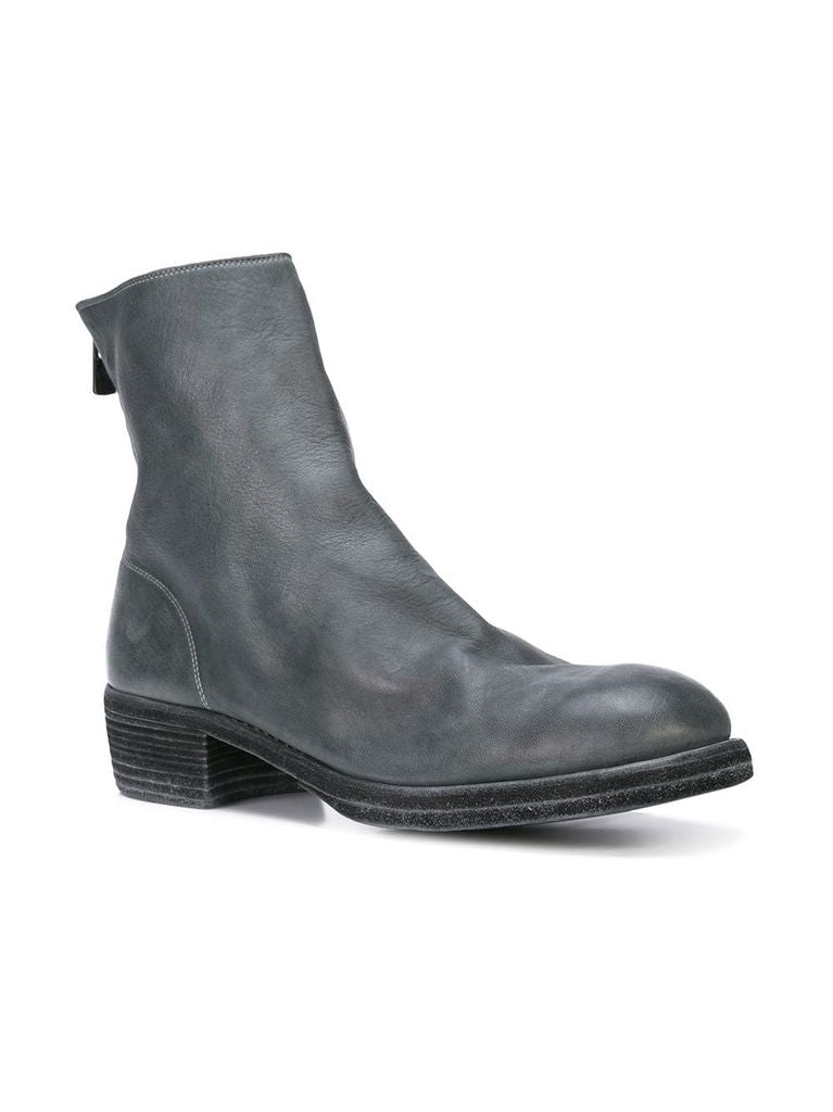 GUIDI MEN 796 SHORT BACK ZIP BOOT CO11T