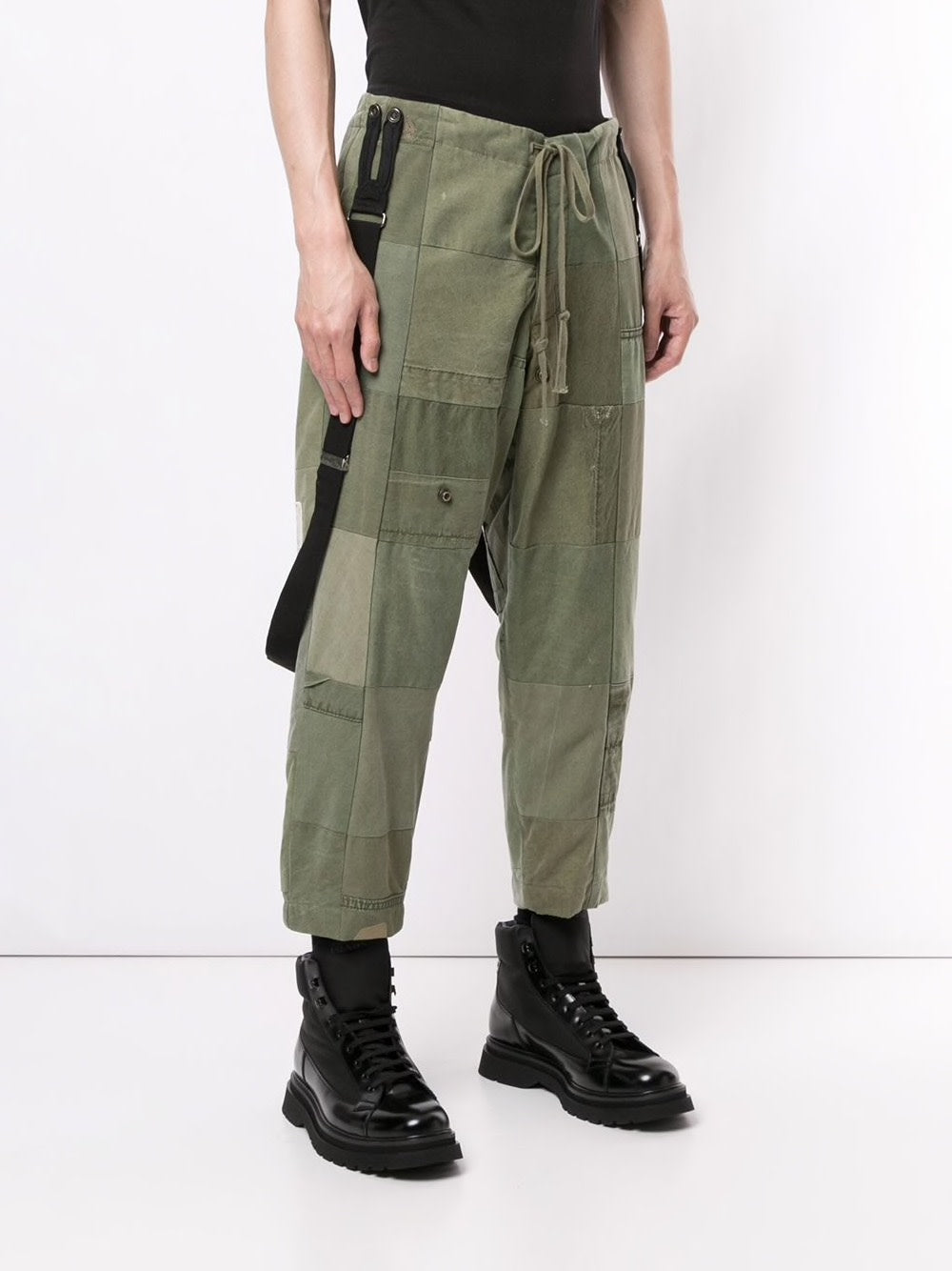 GREG LAUREN MEN TENT SCRAPWORK LOUNGE PANTS