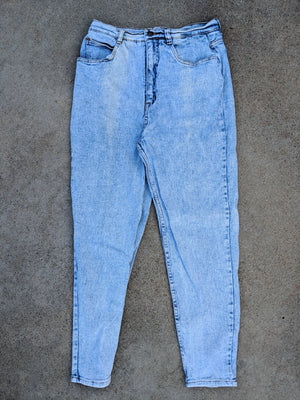 High Waisted Acid Heathered Jeans (31)