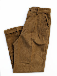 Faux Suede Pleated Pants (26)