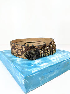 Snake Head Leather Belt (30-32)