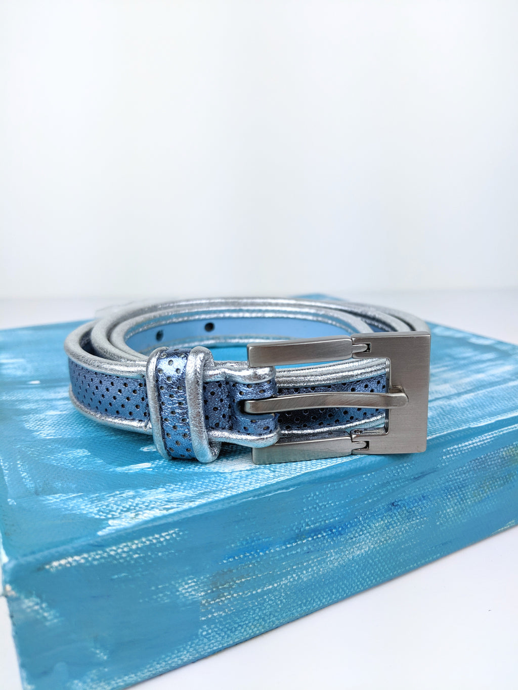 Metallic Leather Belt (27-30)
