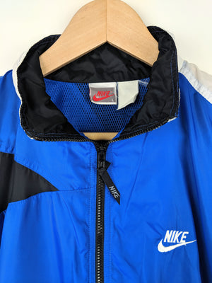 1/4 Zip Abstract Block Windbreaker (L)