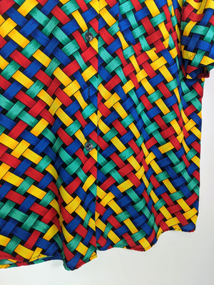 80's Abstract Blouse (M)
