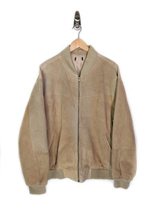 Seude Leather Bomber Jacket (XL)