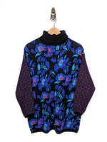 Floral Turtleneck Sweater - Women's (L)