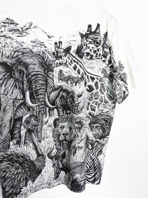Vintage African Safari All Over Print Tee (M-L)