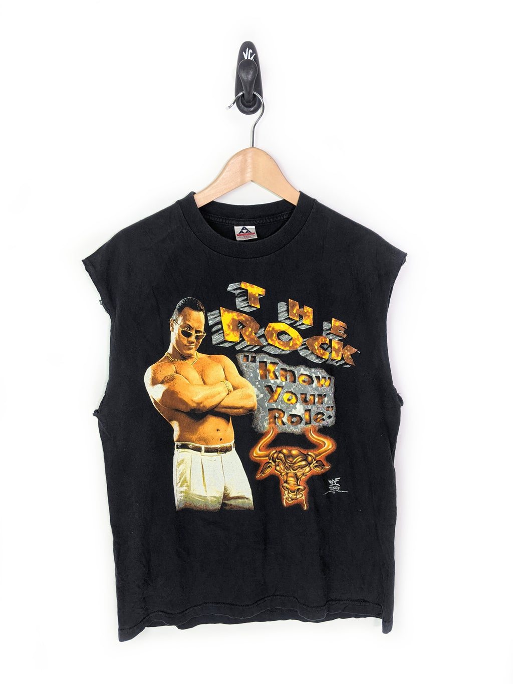 WWF The Rock Cut Off Tee (L)
