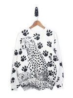 All Over Cheetah & Cub Sweatshirt (L)