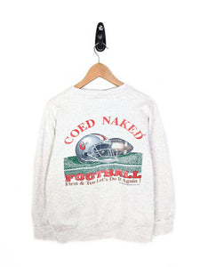 Coed Naked Football Sweatshirt (L)
