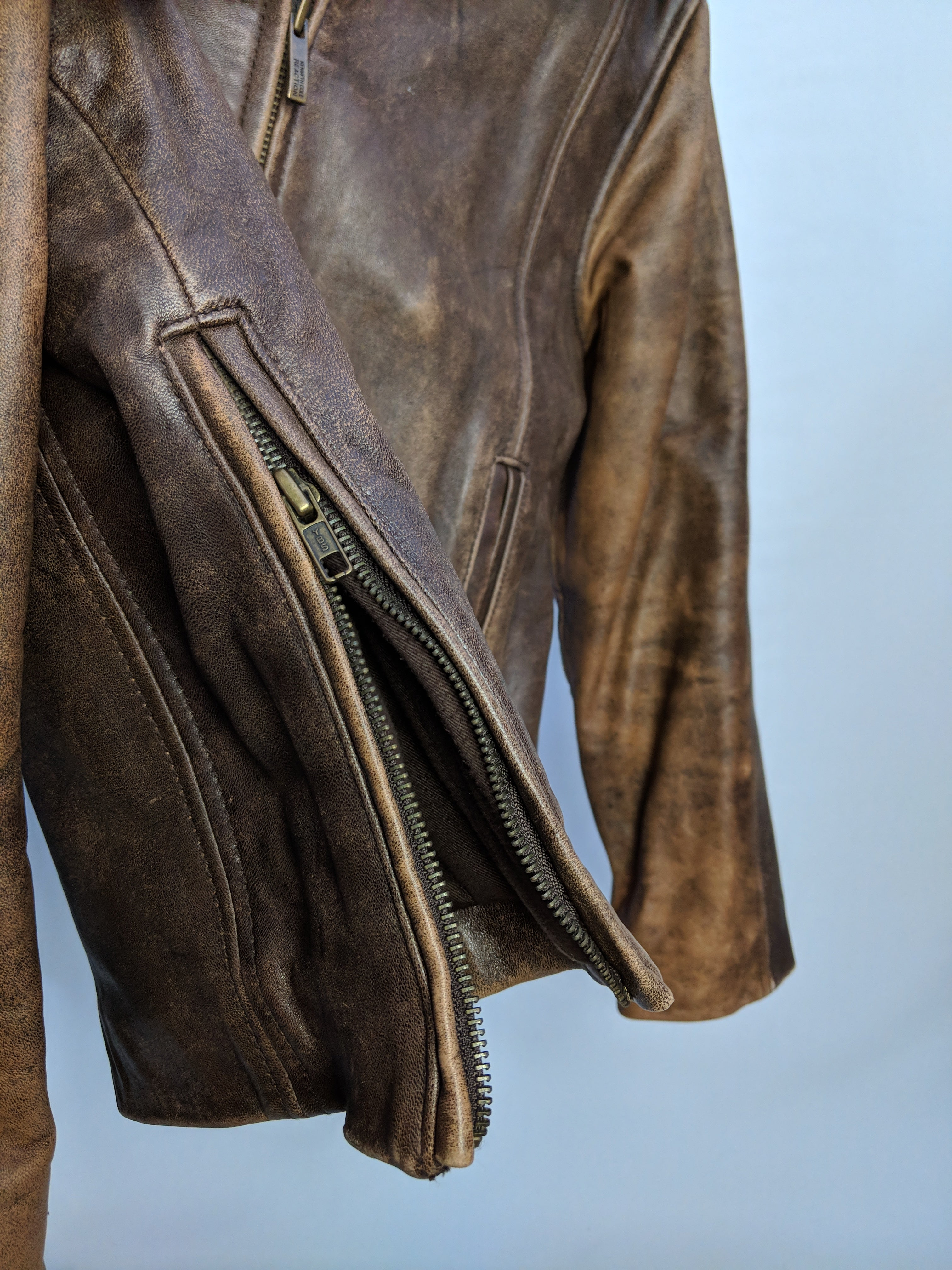 Kenneth Cole Brown Leather Jacket (M)