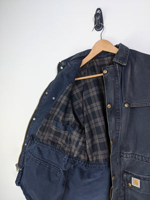 Plaid Lined Carhatt Zip (L)