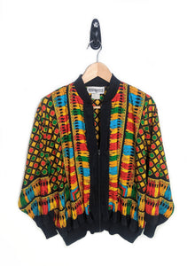 Abstract Scarf Windbreaker (M)