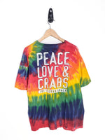 Peace, Love, & Crabs Tee (XL)