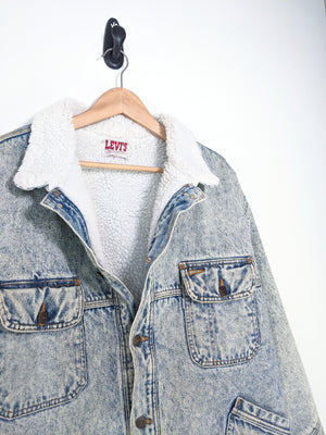 80's Levis Sherpa Denim Jacket (L)