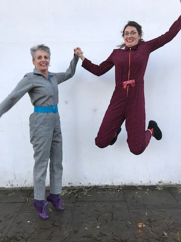 Alice + Lilia in their intrepid boiler suits