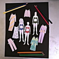 Advent Day 14 + 15: Alice & Co paper dolls