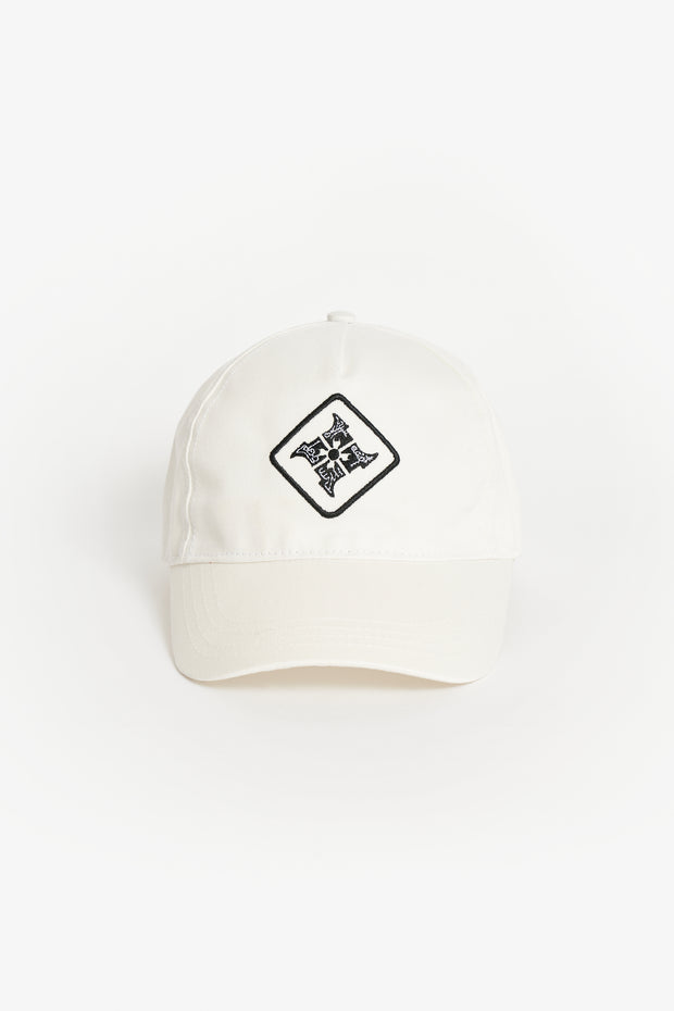 Monster Hunter Rise Kamura Baseball Cap - Off-white