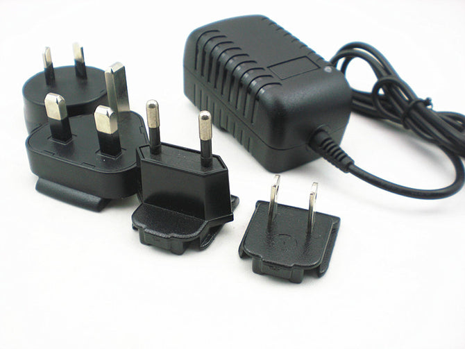 NH090100 Intelligent NI-MH battery Adapter for 2.4-7.2V1A Ni-MH / NiCd Battery Charger Pack(6 Plug) - Black