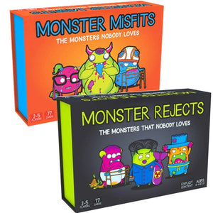 Novelty Monster Misfits A Ridiculous Card board game Friendly Rabbit Monster Rejects Children's adult educational toys