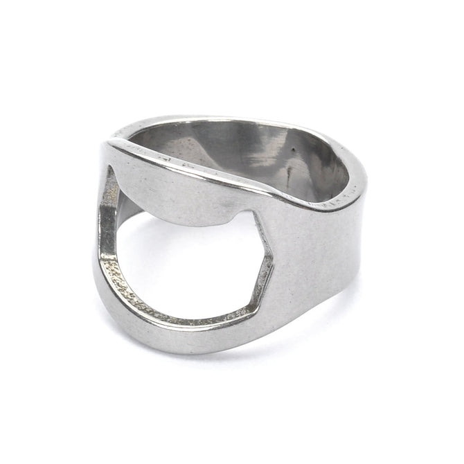Finger Ring Style Bottle Opener for Bar / Pub / Home - Silver