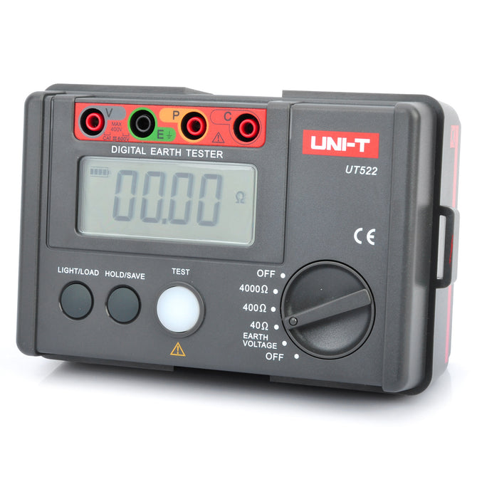 "UNI-T UT522 2.7"" LCD Digital Earth Ground Resistance Voltage Meter Tester (6 x AA)"