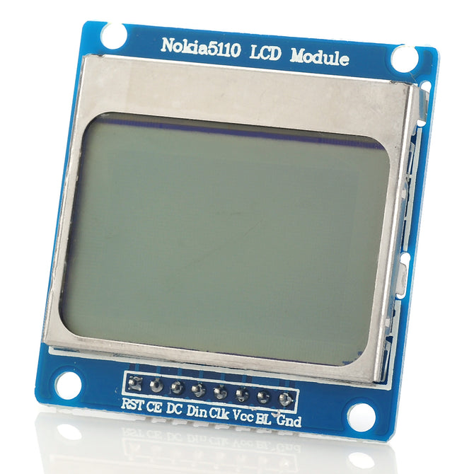"1.6"" Nokia 5110 LCD Module w/ Blue Backlit for Arduino"