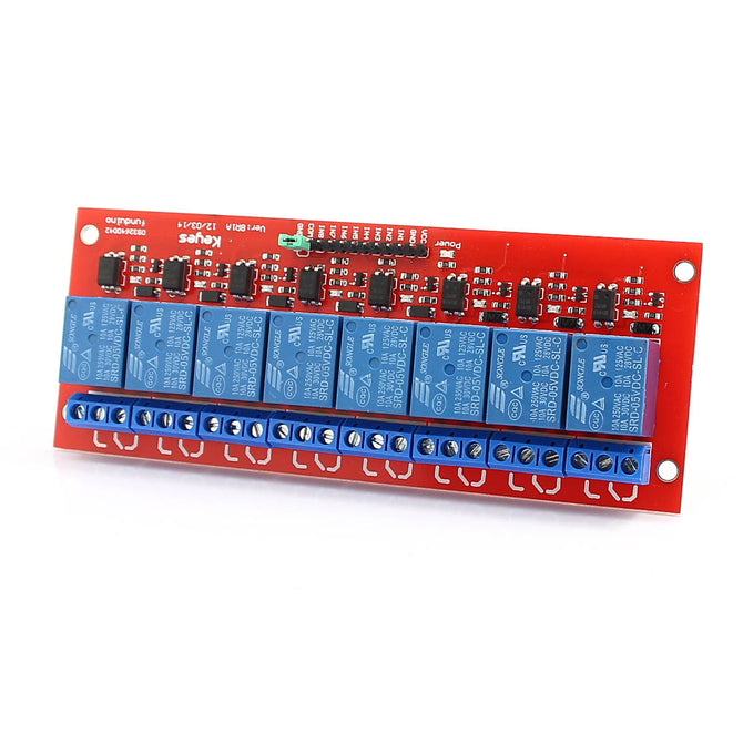 8-Channel 5V Relay Module Board for Arduino