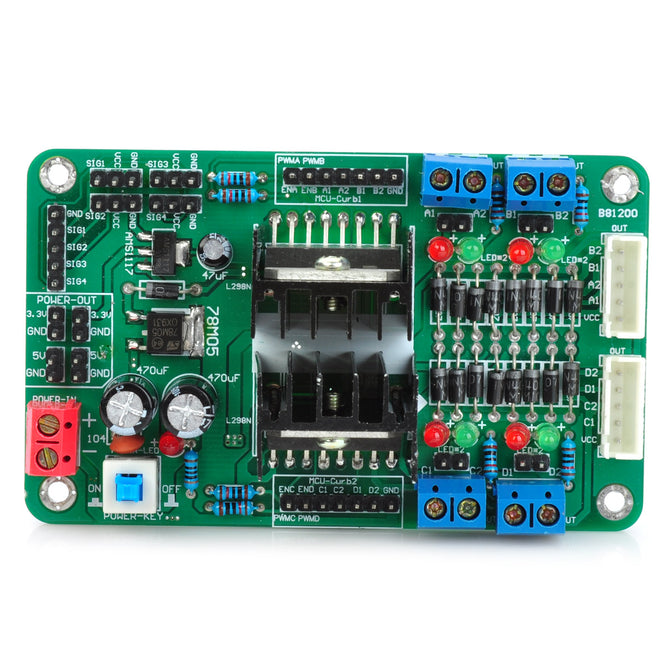 4 Channels DC Servo Stepper Motor Driver Module for Arduino (Works with Official Arduino Boards)