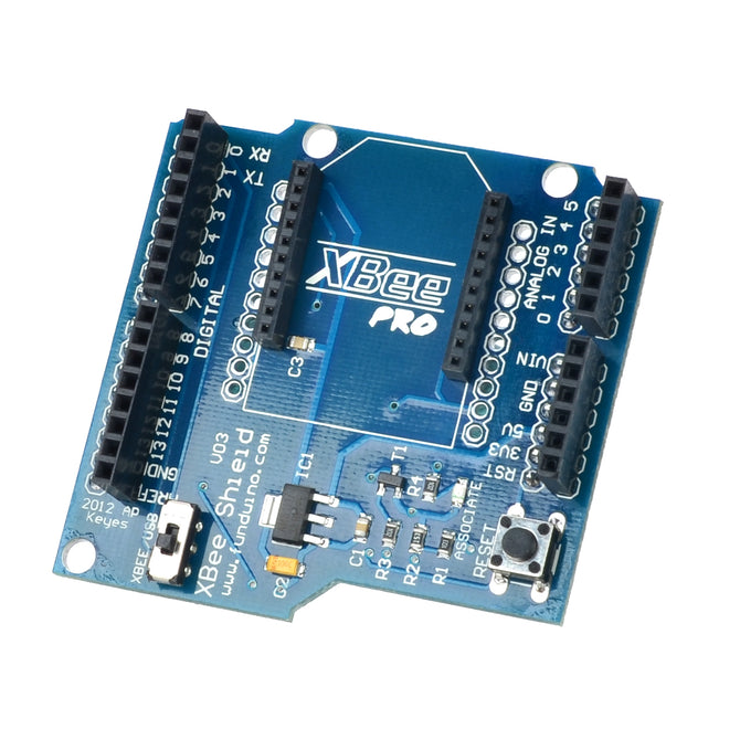 Funduino V03 Bluetooth Expansion Board Compatible w/ Xbee Bluetooth Bee for Arduino - Deep Blue