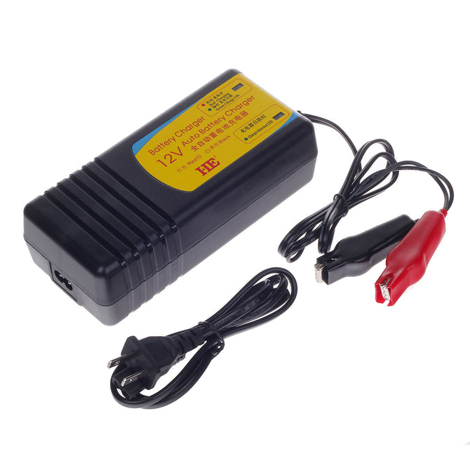 HB-130805 13.8V 5A US Plugs Charger for Lead-Acid Battery - Black (AC 100~240V)