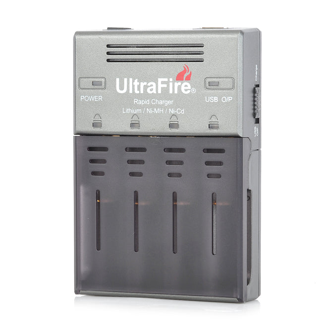 UltraFire WF-128S 18650 / AA / AAA / 16340 Li-ion Battery Charger w/ UK Plug Power Adapter