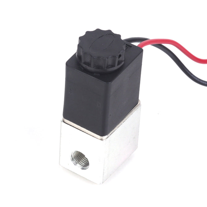 "PT1/4"" 2-Way Normally Closed Pneumatic Aluminum Electric Solenoid Air Valve (12V DC)"