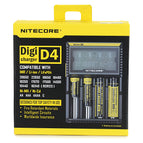 "NiteCore D4 3.3"" LCD 4-Slot Battery Charger - Black (US Plugs)"