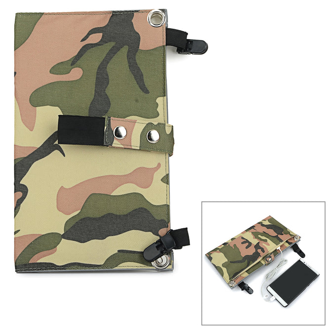 Portable 2-Folding 10W 5V USB 2.0 Solar Panel Charger - Camouflage