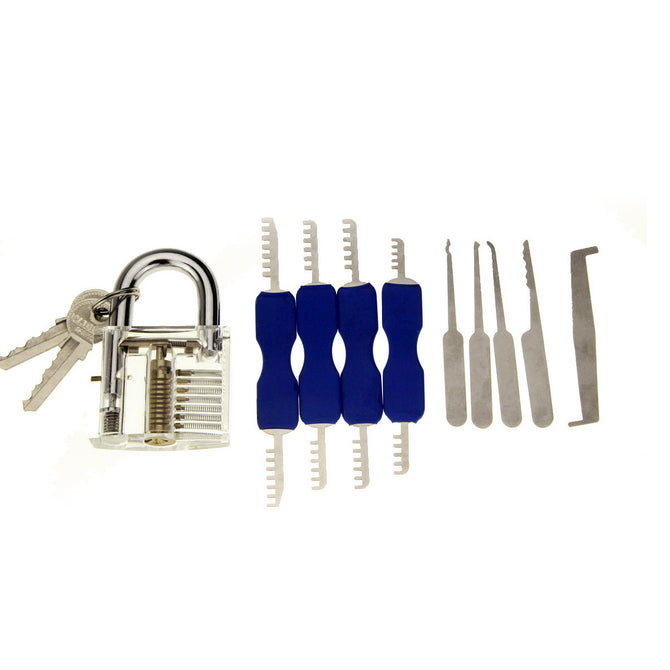 Practice Padlock + Lock Pick + Single Hook Pick Set