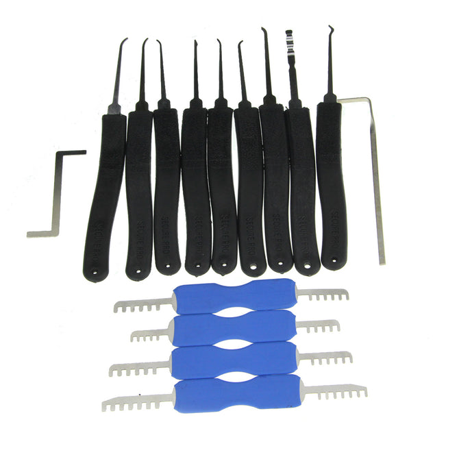 9-In-1 Lock Picks + Double Heads Comb Style Lock Pick Tool Set