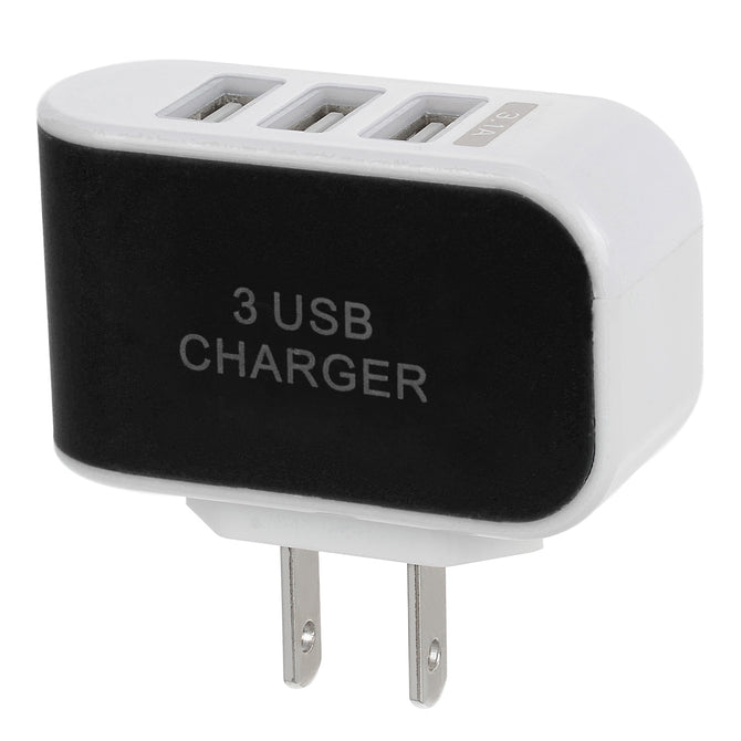 3 USB 3.1A 12V Output US Plugss Home Power Charger - Black