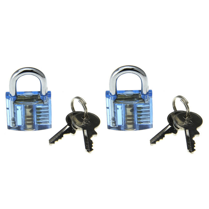 Mini Inside-View Pick Skill Training Practice Padlock Lock Kit (2PCS)
