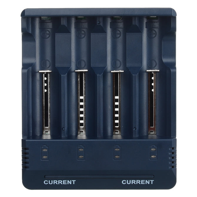 BC1000 Smart Charger w/ 4 Slots for Ni-MH NiCd Lithium-Ion Battery - Dark Blue (EU Plug)