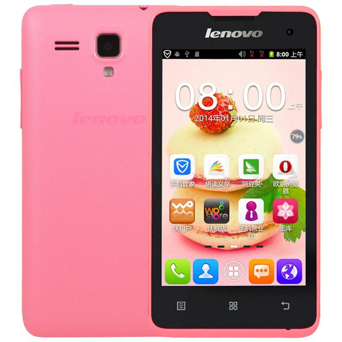 "Lenovo A396 4.0"" Android 2.3 Quad Core Cell Phone - Pink (US Plugs)"