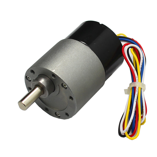 High Torque DC 24V 115RPM Brushless Gear Motor - Black + Grey