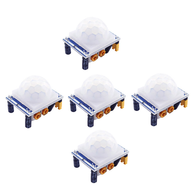 HC-SR501 Human Infrared Sensor Modules - White + Blue (5Pcs)