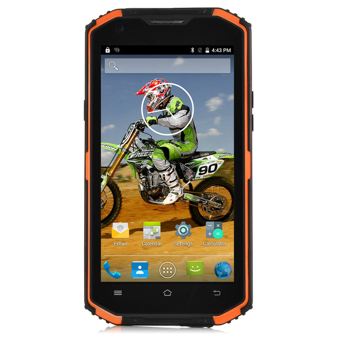 "VPhone X3 MT6735 Android 5.1 5.5"" Rugged Smartphone - Orange + Black"
