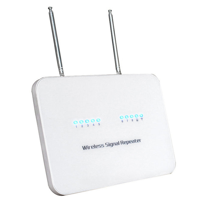 DC 12V 2A 433MHz Ni-Hi Wireless Signal Repeater - White