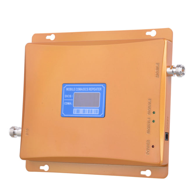 LCD Display CDMA 800MHz + DCS 1800MHz Signal Amplifer - Golden + Blue