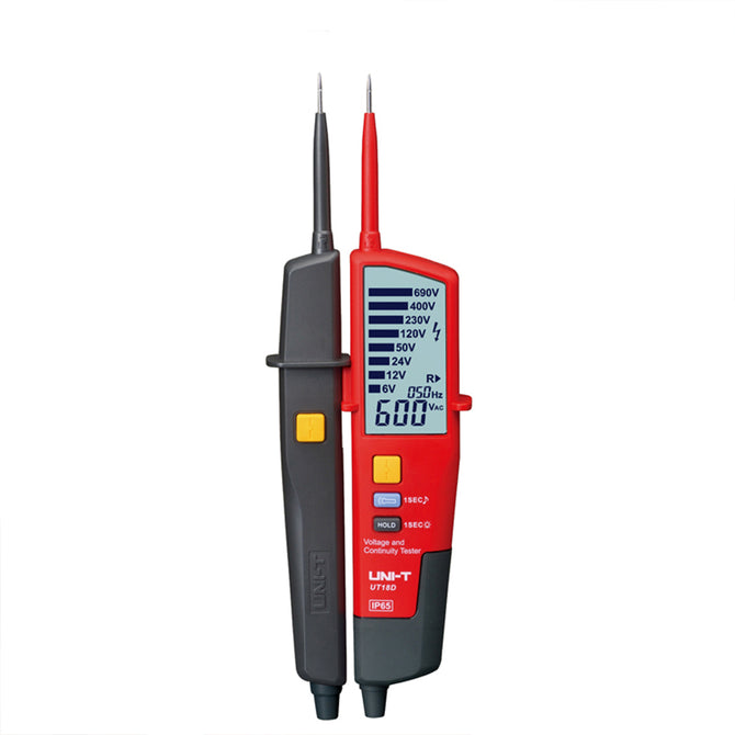 UNI-UT18D Voltage and Continuity Tester - Red, Black