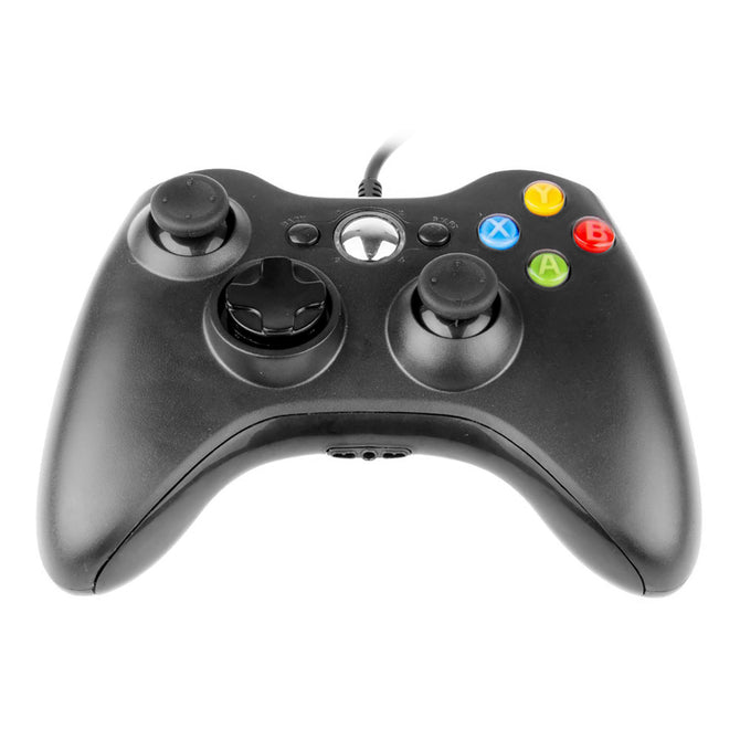 USB Wired Gamepad Controller for Microsoft Xbox 360 WII PS3 Slim PC Windows - Black
