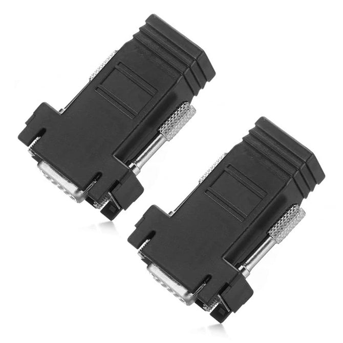 VGA Female to RJ45 Female Adapter Coupler Connector (2 PCS)