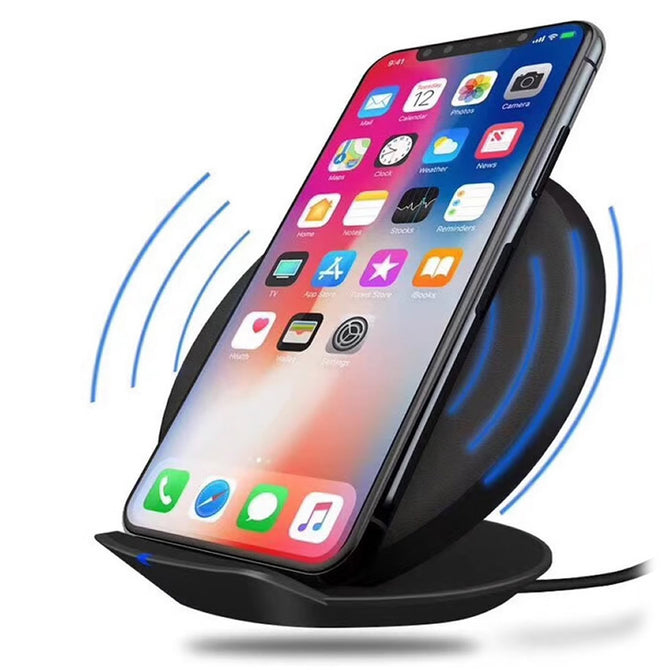 Cwxuan 10W Fast Wireless Charger Stand, Qi Charging Pad for Samsung / IPHONE 8 / IPHONE X - Black